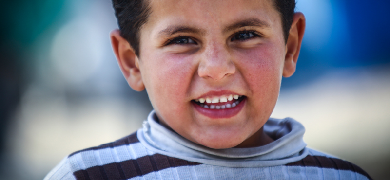 Syrian Child looking at camera