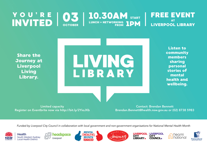 Liverpool Living Library 2 October 2019 at Liverpool Library