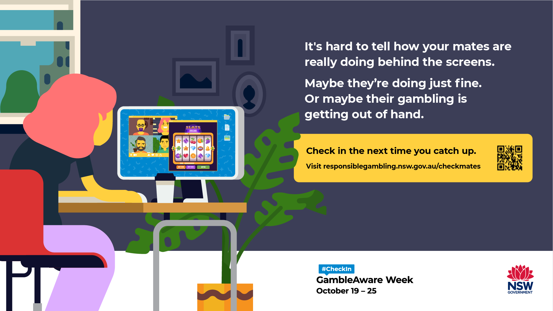 Check in next time you catch up. GambleAware Week 2020