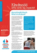 Mental Health Month Fact Sheet 2013 Cover Image